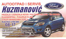 CAR SERVICE AND CAR WASTE KUZMANOVIĆ Sabac