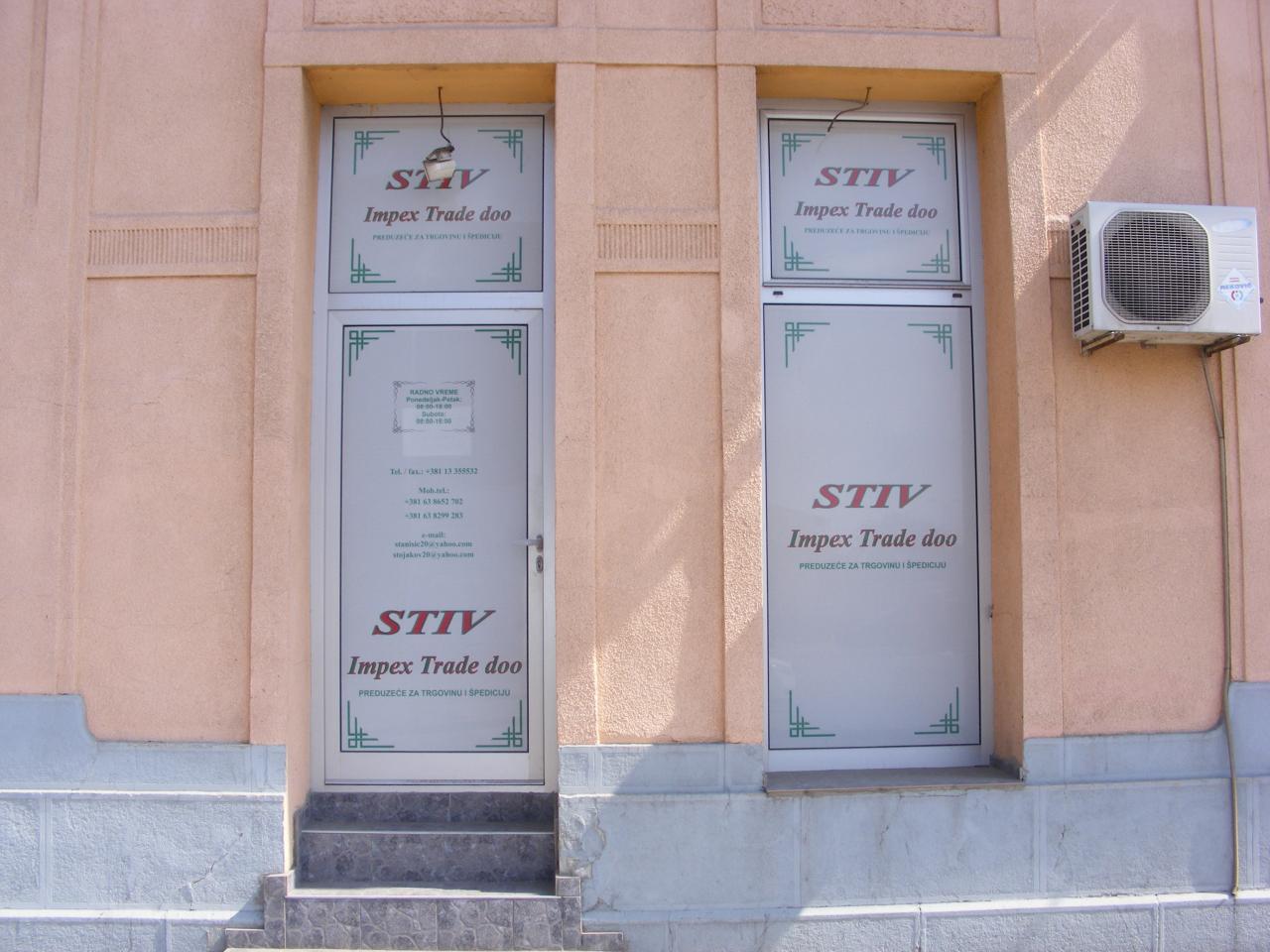 STIV IMPEX TRADE DOO Špedicija, drumski transport Pančevo