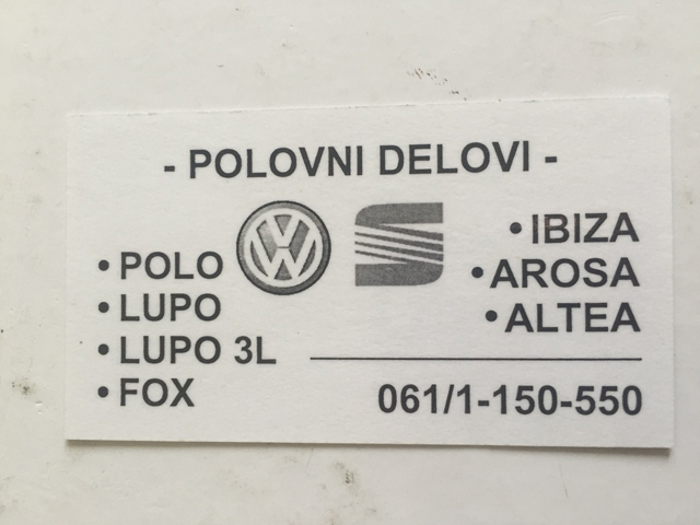 CAR PARTS VW POLO LUPO FOX Auto wastes Sabac - Photo 12