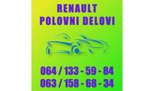 AUTO DELOVI RENO ŽILE 015 Polovni auto delovi Šabac