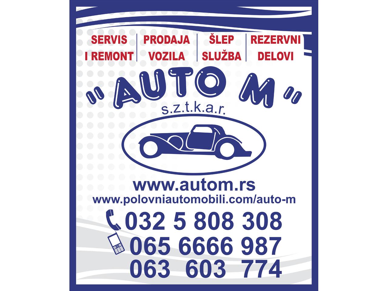 AUTO OTPAD AUTO M Auto placevi Čačak