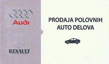 SPARE PARTS SELLING FOR AUDI AND RENAULT Sremska Mitrovica
