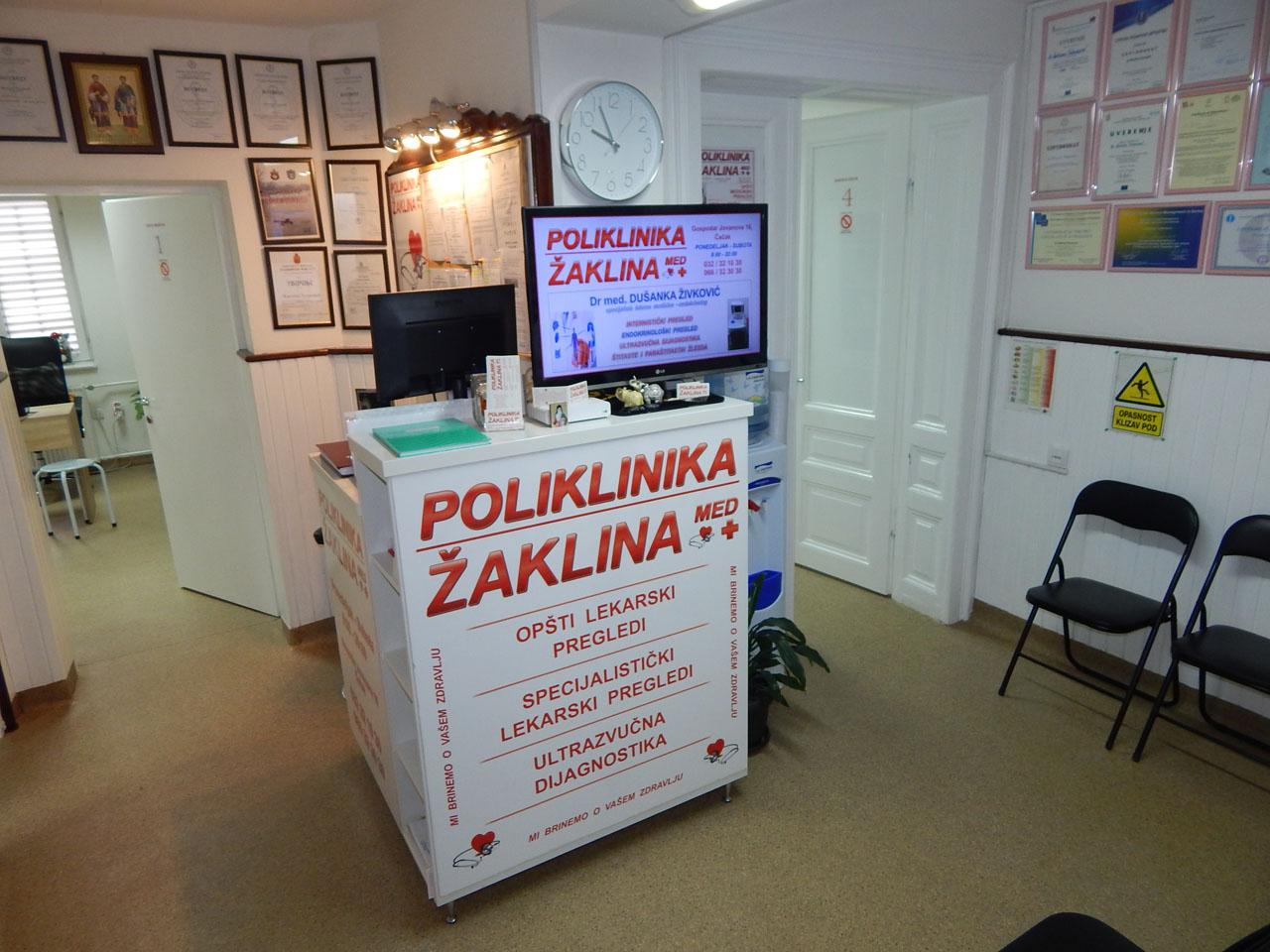POLIKLINIKA ŽAKLINA MED Poliklinike Čačak