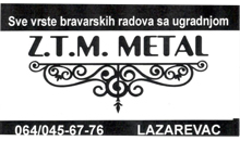 LOCKSMITHS SHOP ZTM METAL Lazarevac
