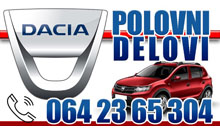 CAR PARTS DACIA Sabac
