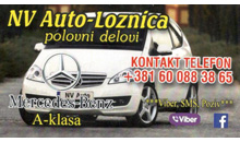 AUTO WASTE NV MERCEDES A AND B CLASS  Loznica